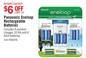 6 Off Limit 10 Panasonic Eneloop Rechargeable Batteries View Details Page For Offer Details Terms And Conditions I Costco Business Panasonic Aaa Batteries