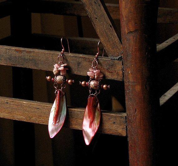 Large Cross Pendant, Shaman Necklace Earring Set, Protection Amulet, Tribal Amulet, Ethnic Rustic Shamanic Earrings, Big Cross Necklace