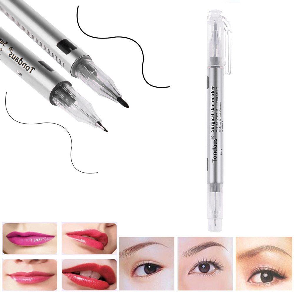 2pcs eye brow marker waterproof tattoo eyebrow skin marker