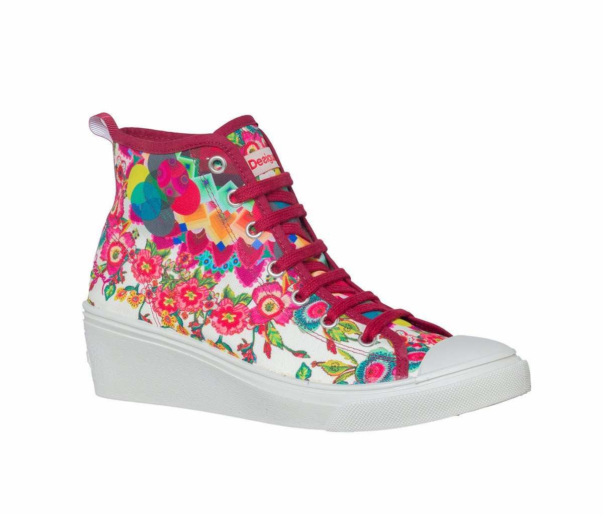 Desigual Funky Fall/Winter Textile Multicolor Women's shoes Trainers EY51872