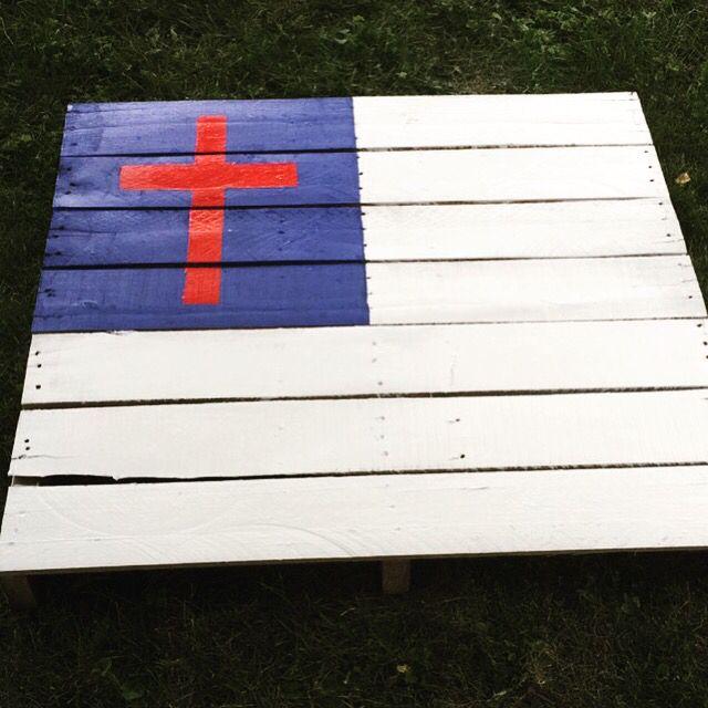 Christian Flag Pallet Pallet Flag Christian Flag Flag Crafts