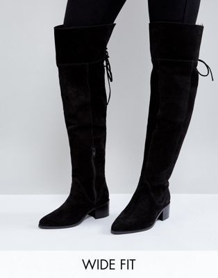 7239c1e81e4 ASOS KOBRA Wide Fit Suede Over The Knee Boots