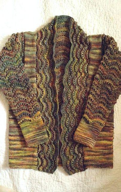"""hitujinoyoru's cardigan - using Malabrigo yarn RIOS in """"Primavera"""""""