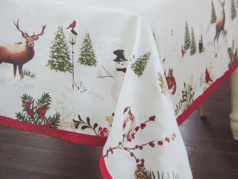 Better Homes And Gardens Winter Forest Tablecloth
