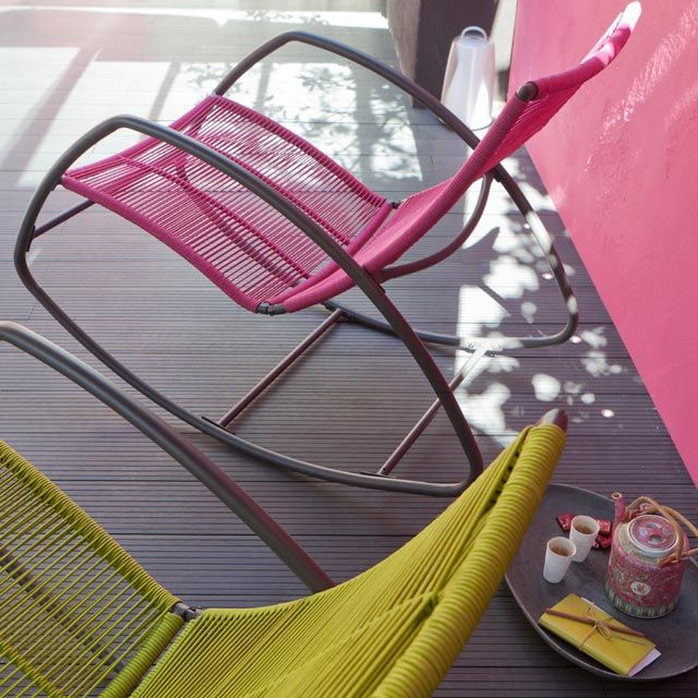 rocking chair pour la terrasse castorama balancelles pinterest garden furniture and. Black Bedroom Furniture Sets. Home Design Ideas
