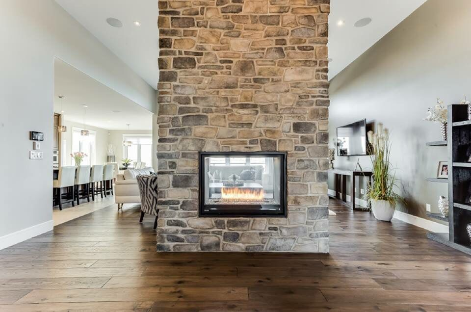 See Through Fireplace Home Pinterest