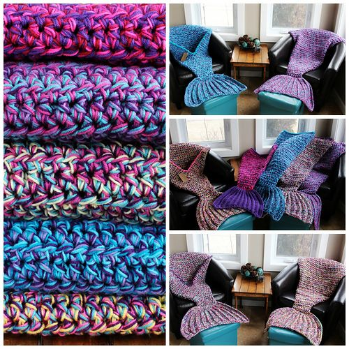 Bulky & Quick Mermaid Blanket pattern by MJ\'s Off The Hook Designs ...