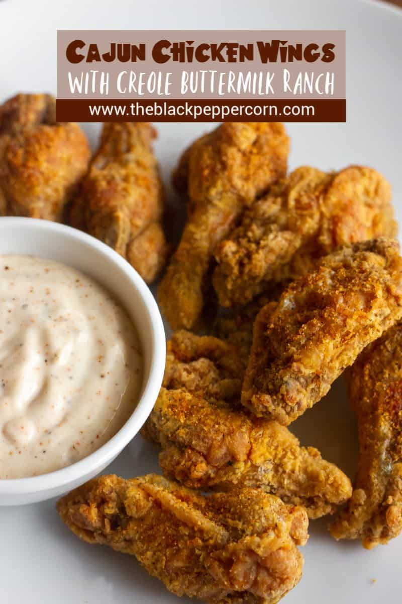 Cajun Chicken Wings With Creole Buttermilk Ranch Dip Recipe Crispy Deep In 2020 Chicken Wing Sauce Recipes Deep Fried Chicken Wings Recipe Cajun Chicken Wings Recipe