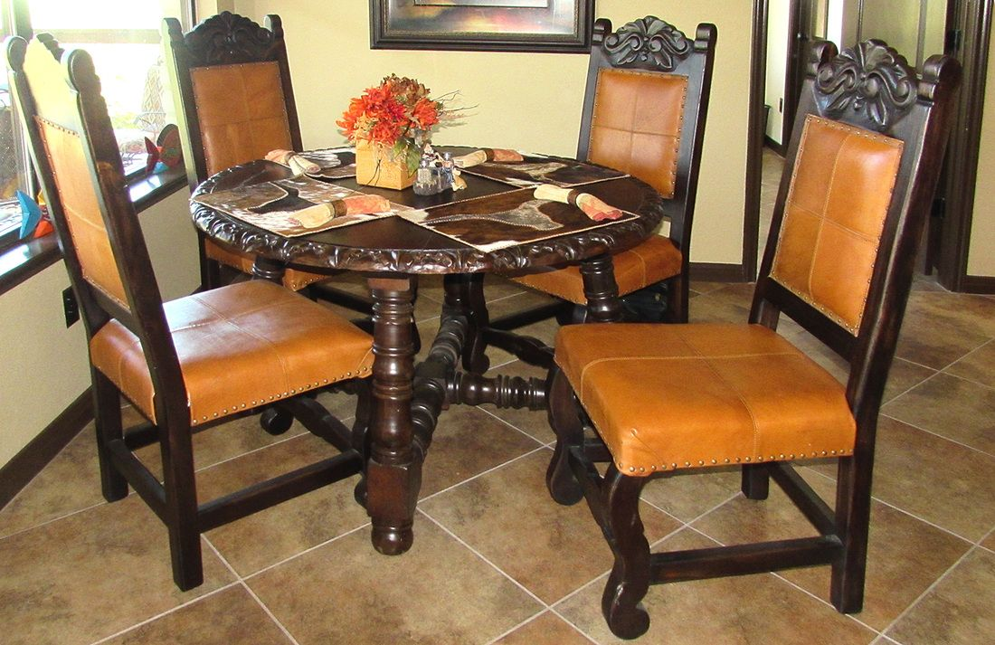 Spanish Style Leather Dining Chairs Google Search Leather Dining Chairs Dining Chairs Spanish Style Kitchen