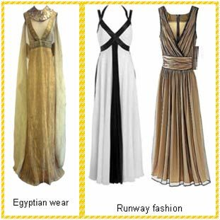 """dress style in the ancient egypt Much as """"the discovery of tutankhamun's tombs in 1922 served as inspiration for the art deco movement,"""" clark points out, our image of cleopatra from the film revived interest in the styles of ancient egypt."""