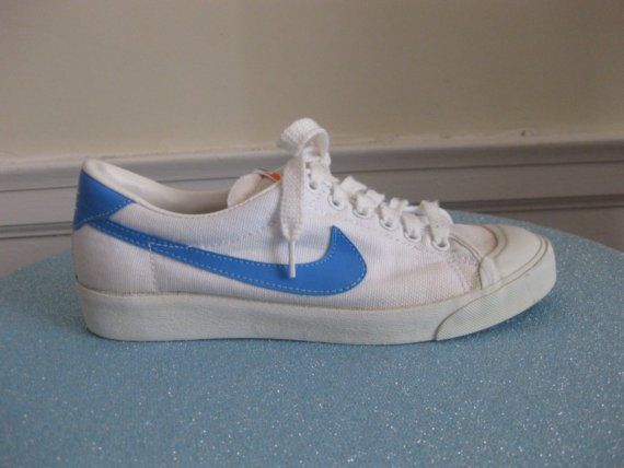 Vintage NIKE canvas TENNIS shoes UNISEX 8.5 womens or 6.5 mens ...