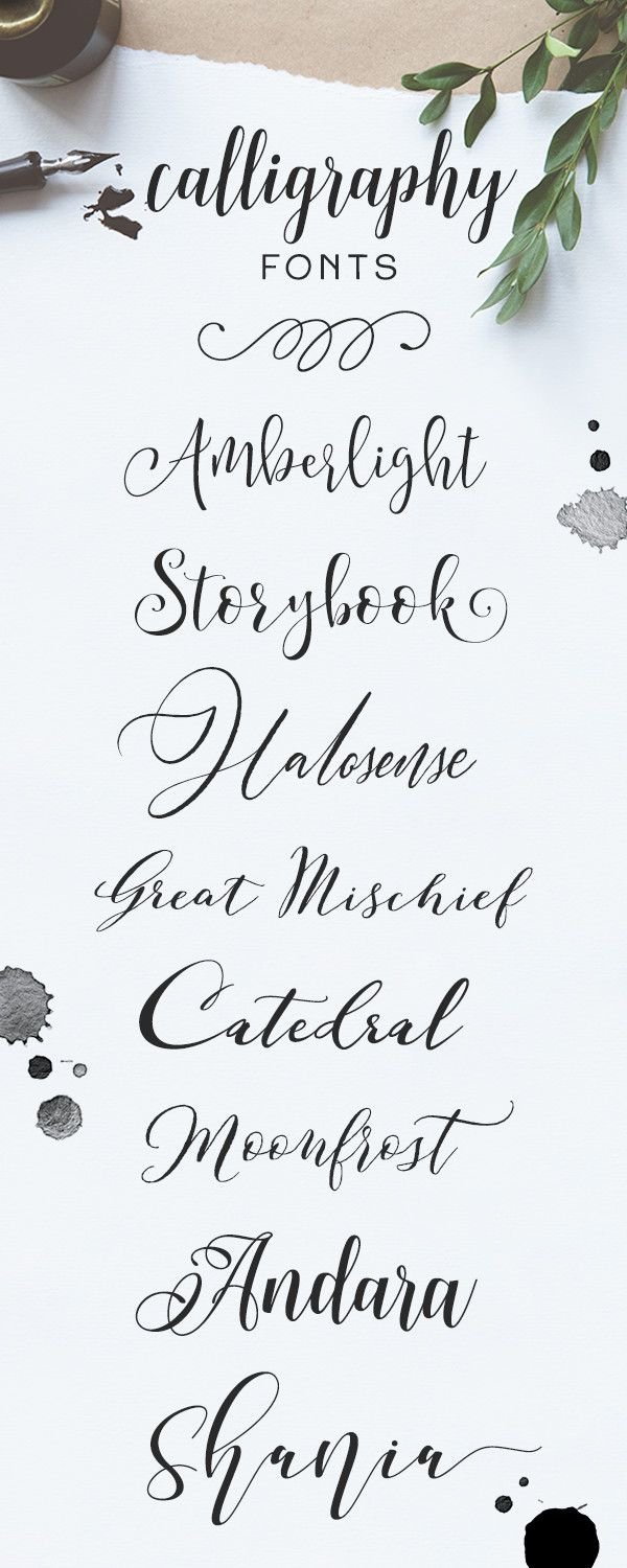 Browse more than 2,400 handwritten calligraphy fonts on
