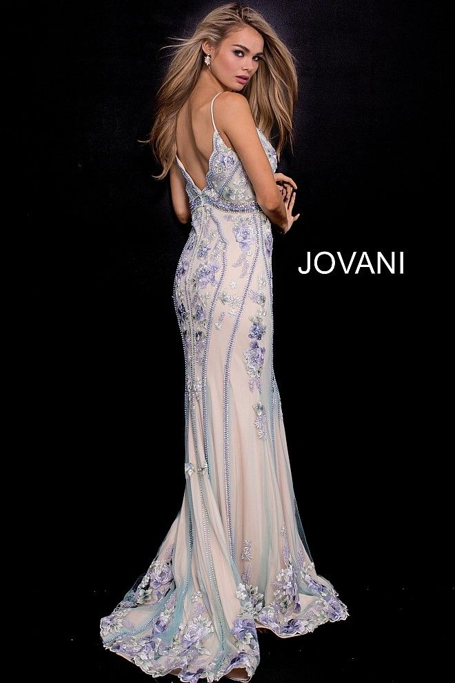 b2ff5830e6 Jovani 55816 Embroidered Empire Waist Formal Dress in 2019