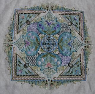 Spring Knot Garden Stitches And Beads Chatelaine Cross
