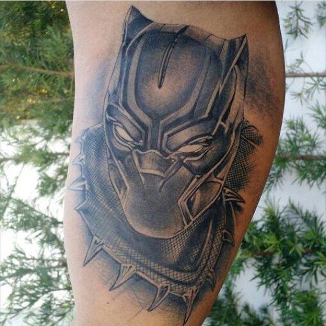 T Challa Tattoo By Diego Rangel Black Panther Tattoo Body Art
