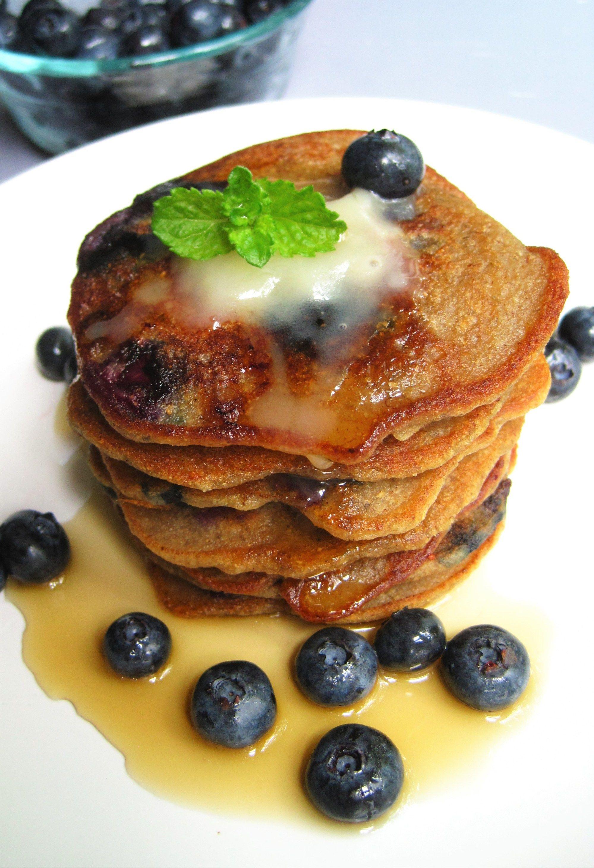 Blueberry Pancakes Paleo Aip Vegan