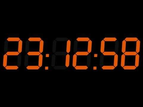 24h Digital CLOCK 000000
