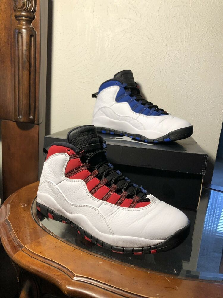 size 40 b132c 82e72 AIR JORDAN 10 RETRO CLASS Of 2006 White blue red Size 9.5 Russell Westbrook   fashion  clothing  shoes  accessories  mensshoes  athleticshoes (ebay link)