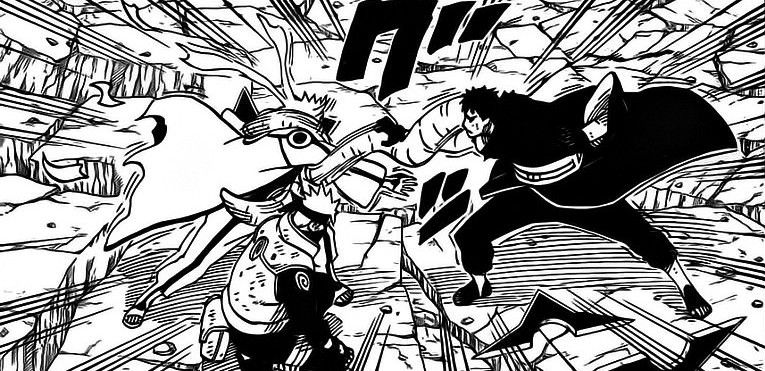 Naruto y Kakashi vs Obito Naruto
