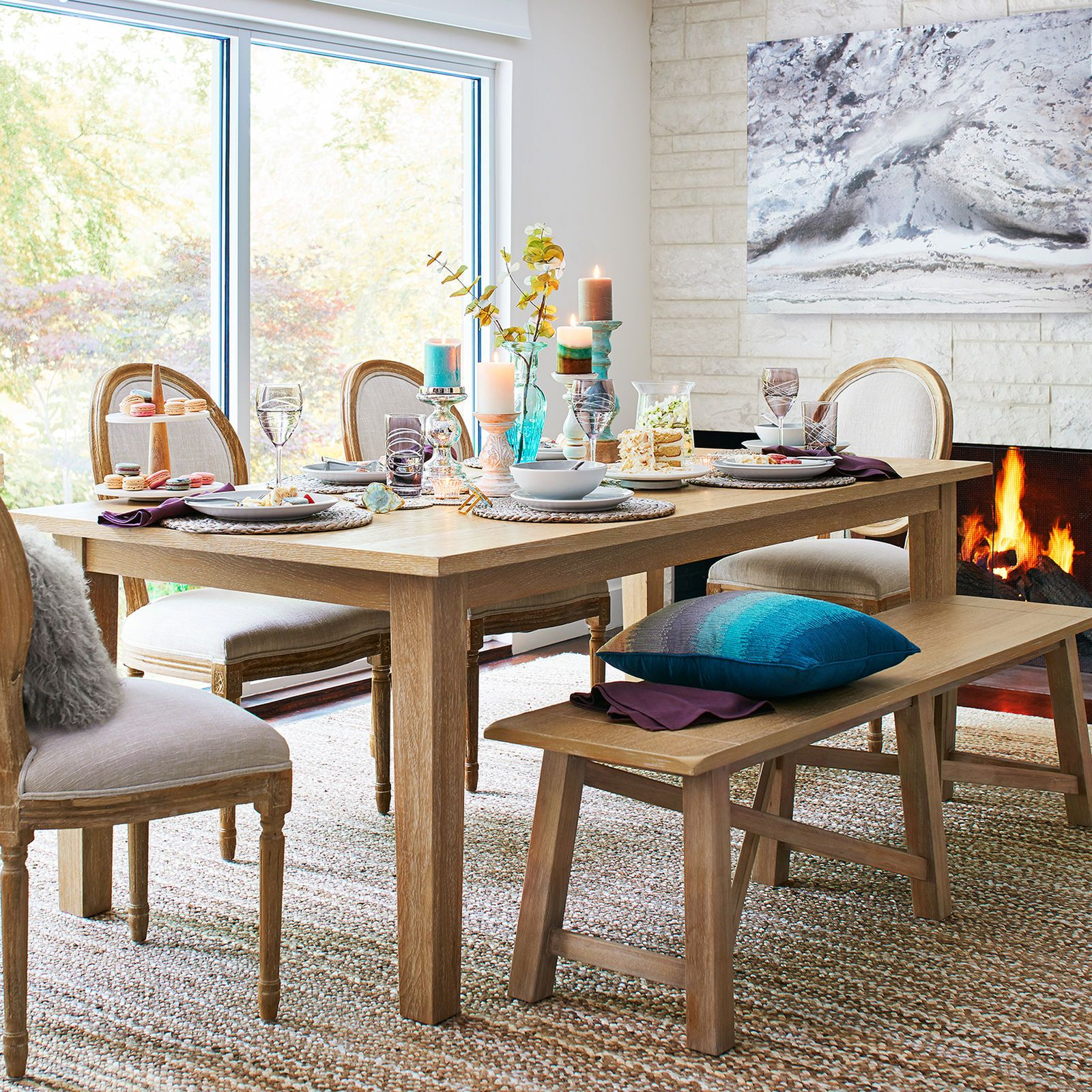 Build Your Own Torrance Natural Whitewash Dining Collection Whitewash Dining Table Dining Room Furniture Dining Room Table