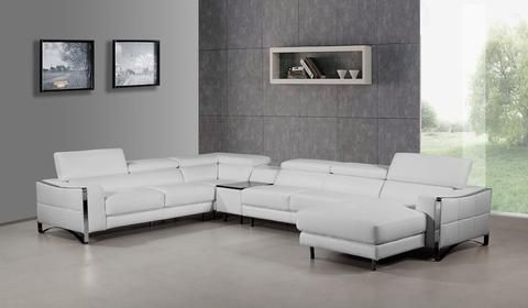 Divani Casa Arles Modern White Leather Sectional Sofa By Vig Furniture At Contemporary Warehouse 1