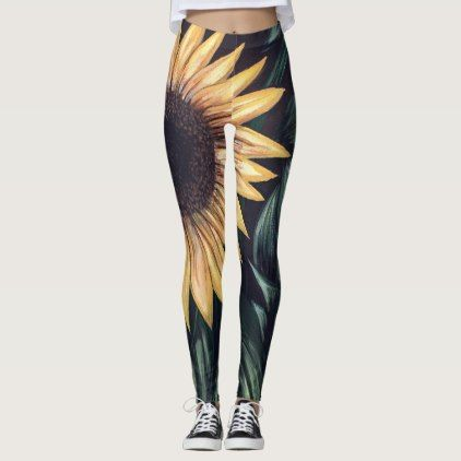Sunflower Life Leggings   Beauty Gifts Stylish Beautiful Cool