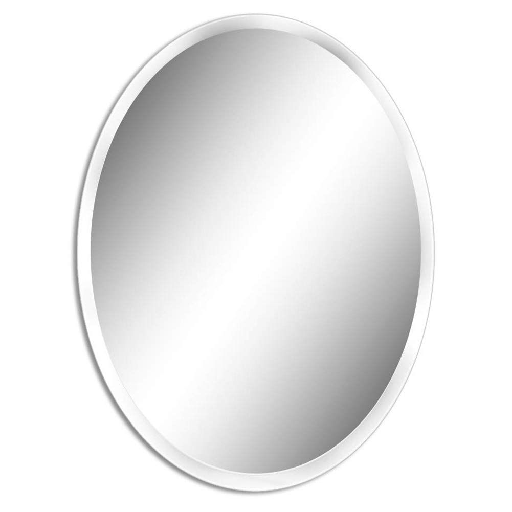 Fanyushow 19 7 X 27 6 Oval Beveled Polished Frameless Wall Mirror For Bathroom For More Information Visit I In 2020 Mirror Wall Bathroom Mirror Wall Bathroom Mirror