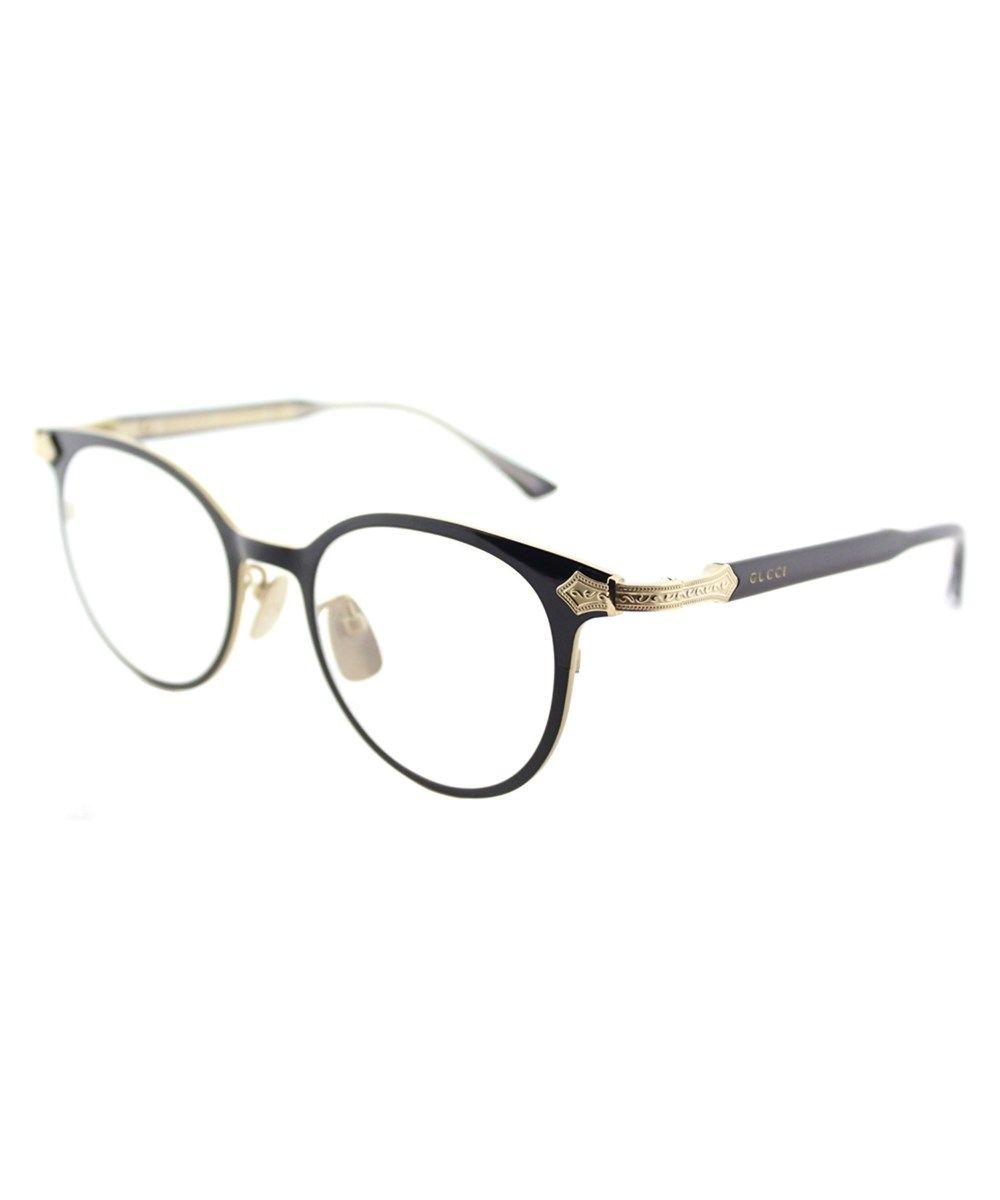 aee928f848 GUCCI Gg0068o 001 Black Round Eyeglasses.  gucci