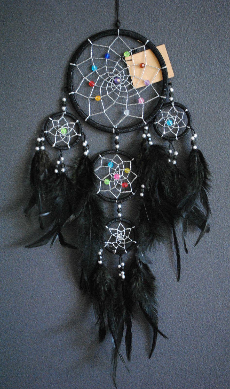 Dream Catcher Black Nylon 11cm Circle Shape Length Approx 35cm | eBay