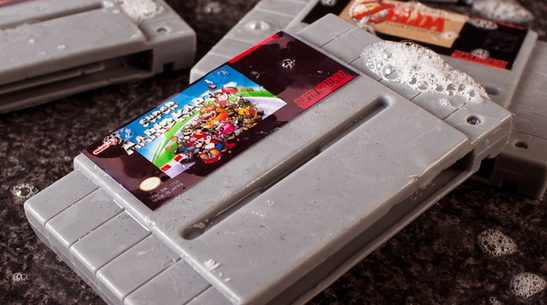 Just In Time for Christmas: Super Nintendo Cartridge Soap Bars.