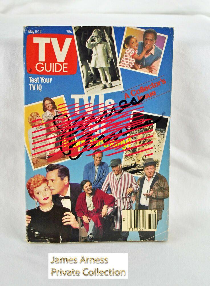 James Arness Gunsmoke Marshal Dillon May 1989 TV Guide