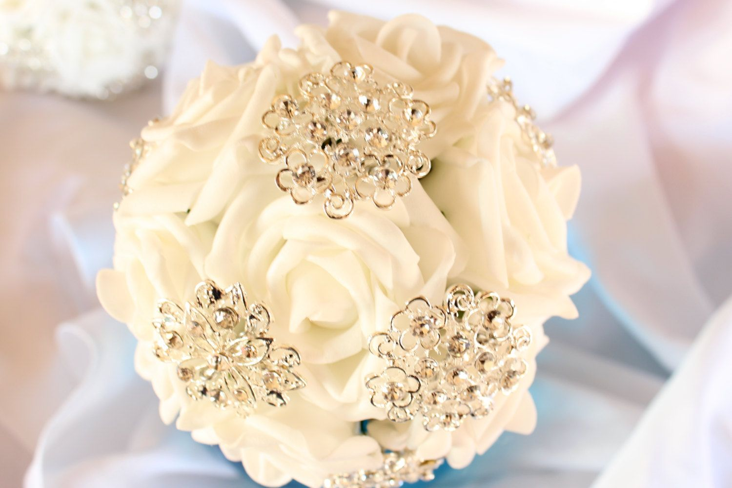 Bridesmaid Small Wedding Brooch Bouquet  Throw by EveryBride, $38.00