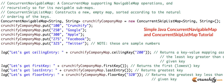 Java concurrentnavigablemap and concurrentskiplistmap tutorial with java concurrentnavigablemap and concurrentskiplistmap tutorial with all details javautilncurrent baditri Images