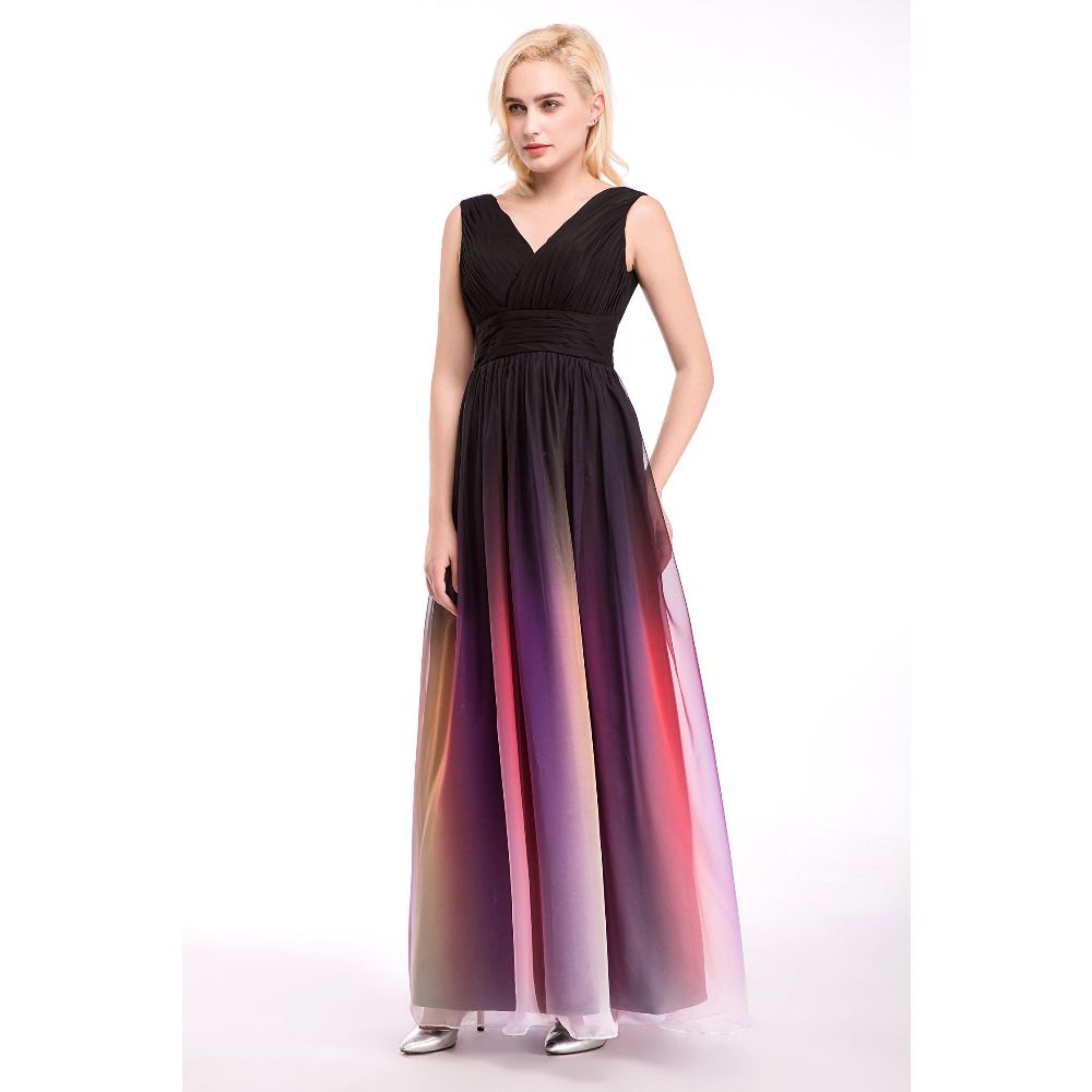 Click to buy ucuc new colorful simple formal gradient prom dresses