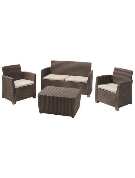 Loungeset »Bali«, 8-tlg, 2er-Sofa, 2 Sessel, Tisch 80x60 cm