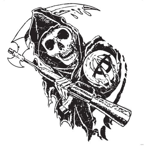 Sons Of Anarchy Walljammer Reaper With Sythe Wall Decal Allposters Com Sons Of Anarchy Mc Sons Of Anarchy Sons Of Anarchy Reaper