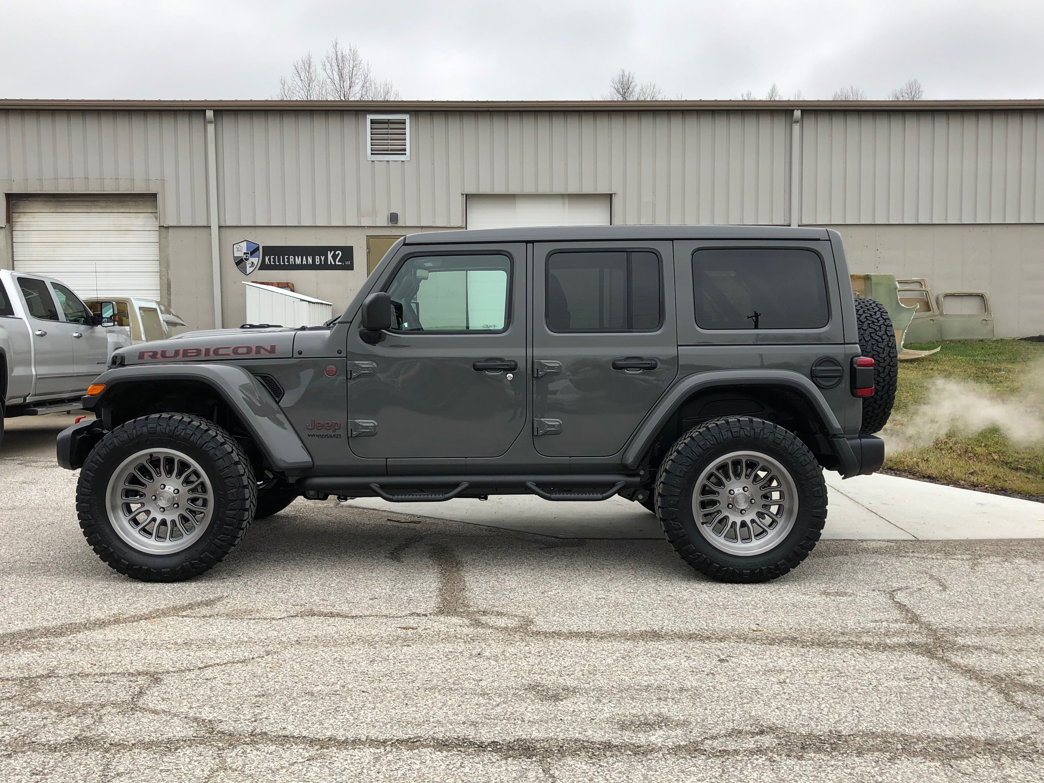 2019 Jeep Wrangler Rubicon Jl Sting Gray Nfab Step Bars 35 Nittos