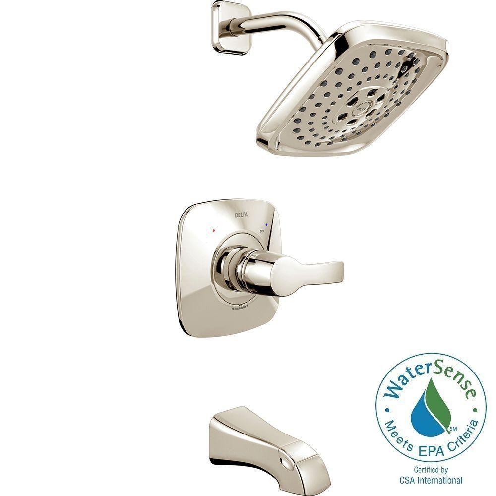 Delta Tesla H2okinetic Single Handle Tub And Shower Faucet Trim