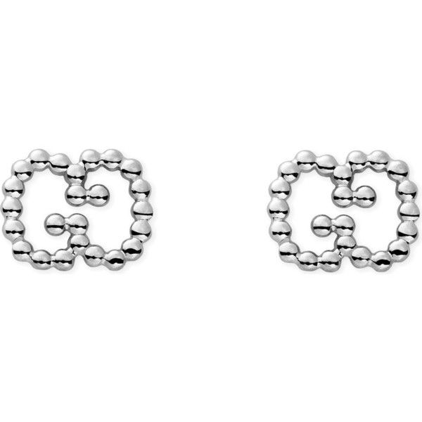 GUCCI Sterling silver boule earrings ($205) ❤ liked on Polyvore featuring jewelry, earrings, sterling silver jewelry, sterling silver earrings, sterling silver jewellery, gucci jewellery and gucci jewelry