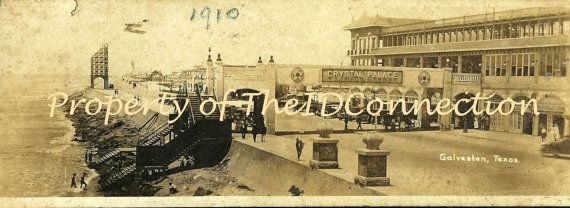 1910 Galveston Texas Crystal Palace Photograph by TheIDconnection, $40.00