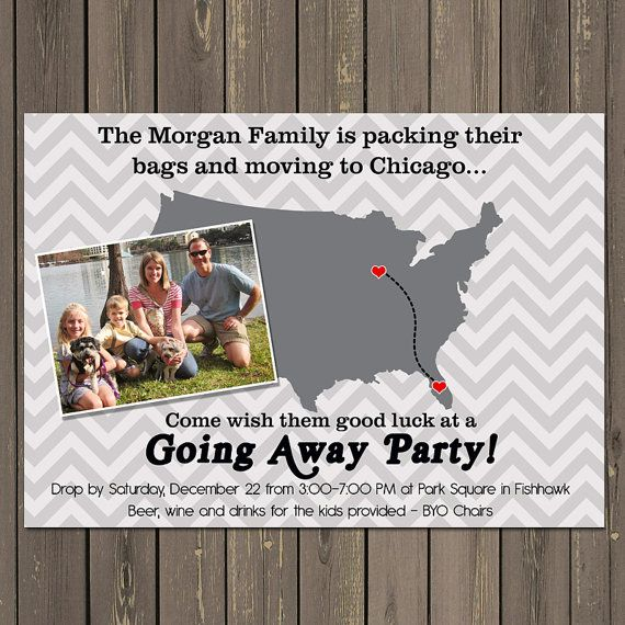 Going Away Party Invitation Moving Farewell Party Invitation Dan - farewell invitation template