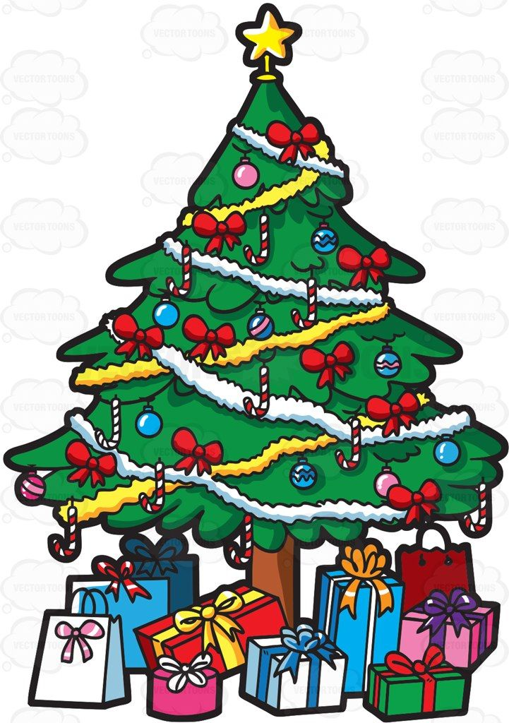 A Christmas Tree Full Of Presents Christmas Tree With Presents Christmas Tree With Gifts Green Christmas Tree
