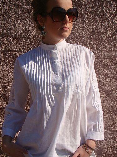 Camisa branca nervuras