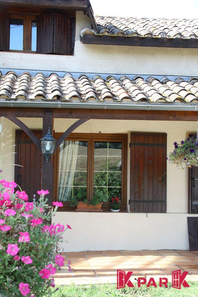 Fenêtre PVC Thermik+ finition bois avec croisillons Fenêtres PVC