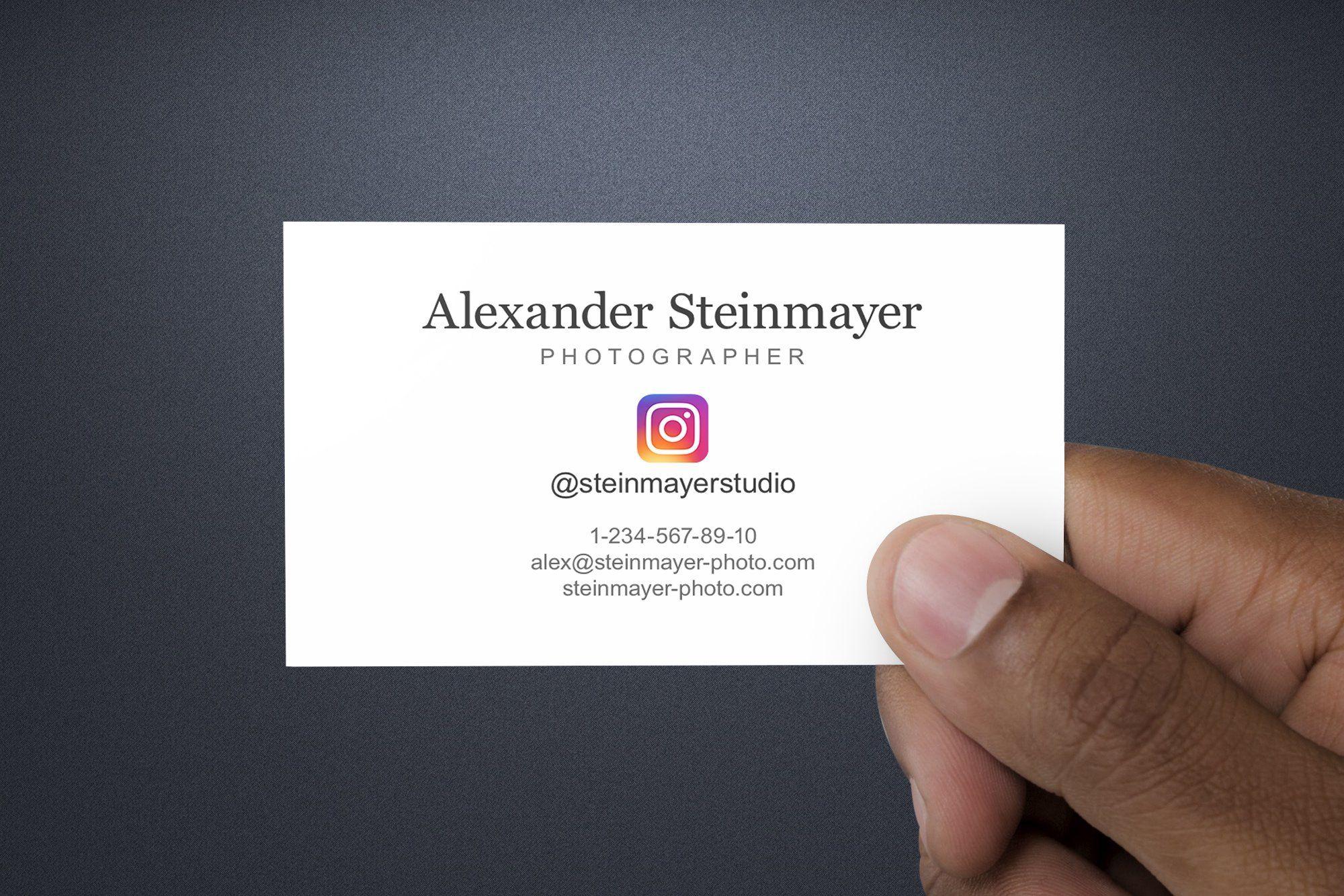Instagram business card template psd business card