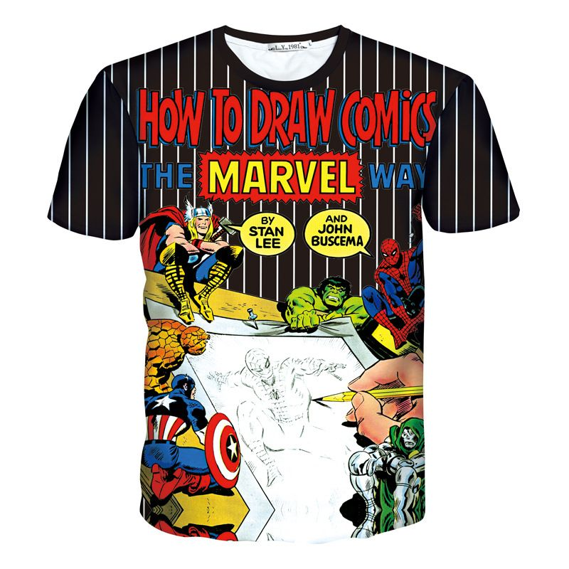 Marvel Thor Text T-Shirt Homme