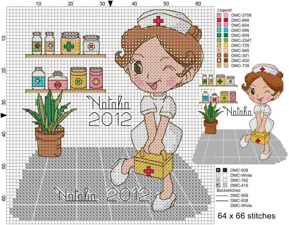 ENFERMERA | doctors@nurses | Pinterest | Cross Stitch, Cross stitch ...