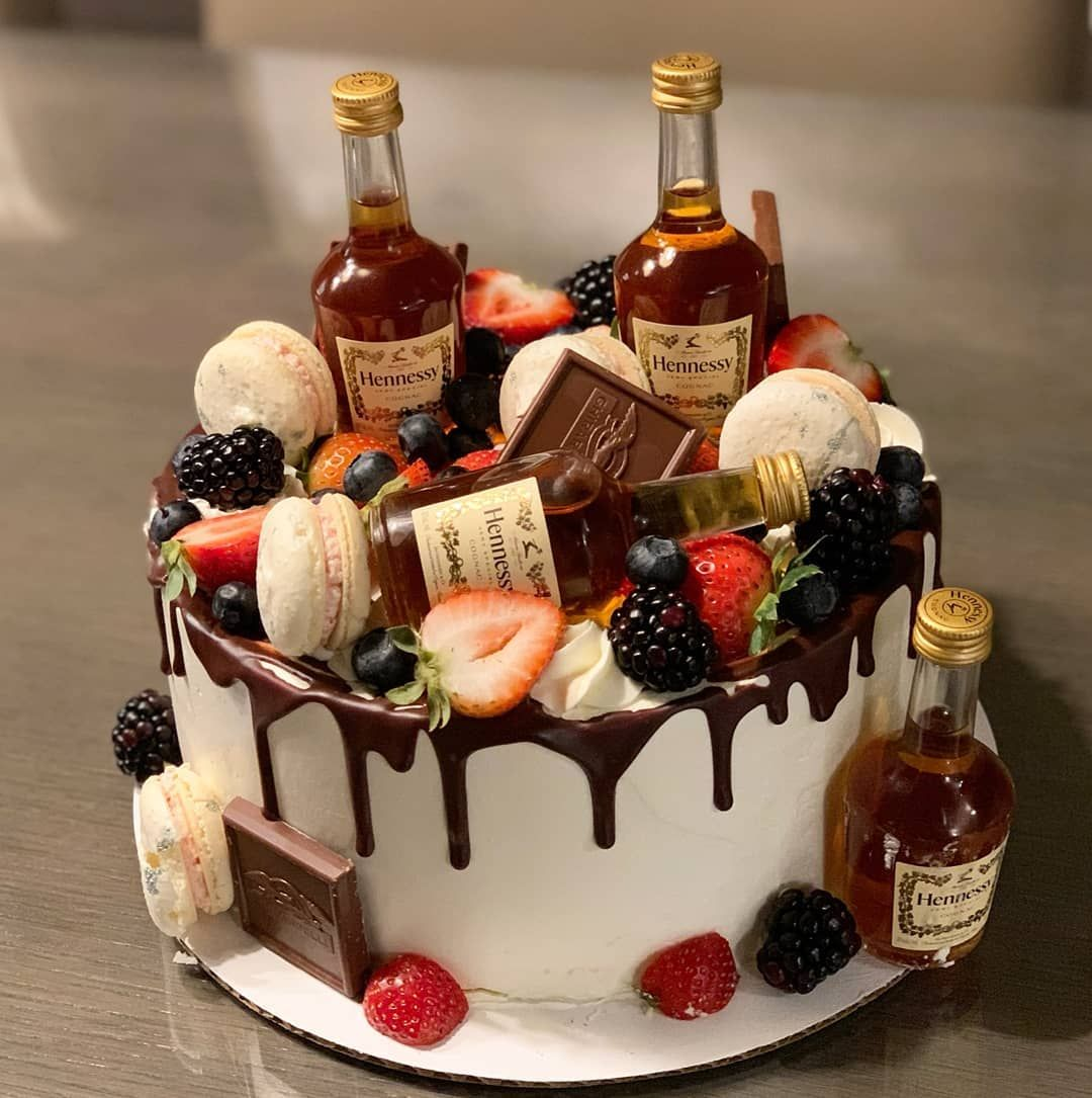 A Forgetful Baker On Instagram How A Friday Night Should Start Henny And Cake Thanks Lvong Birthday Cake For Him 25th Birthday Cakes 21st Birthday Cakes