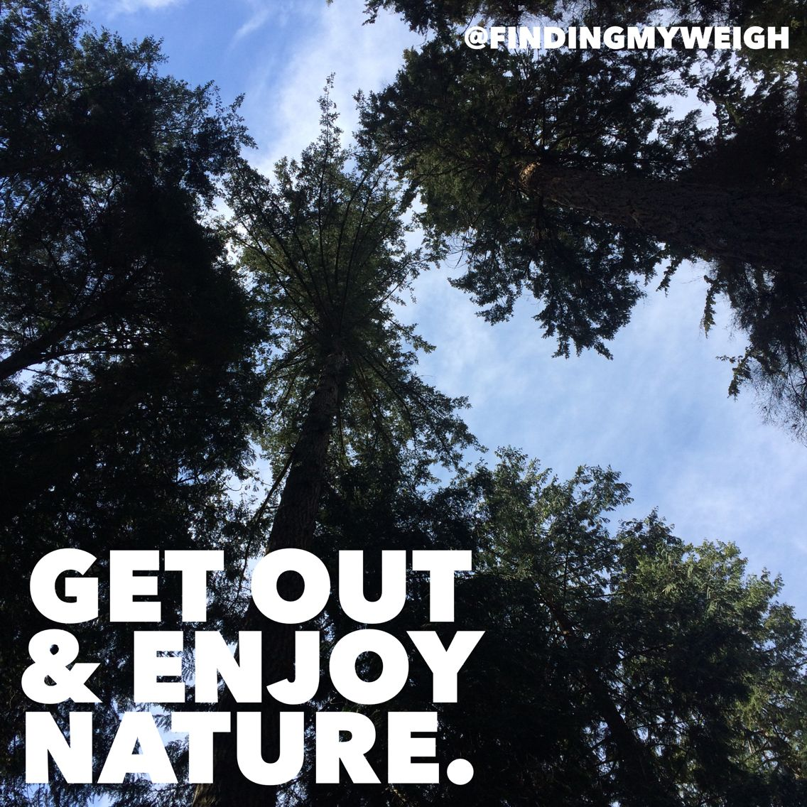 Get out and enjoy nature.