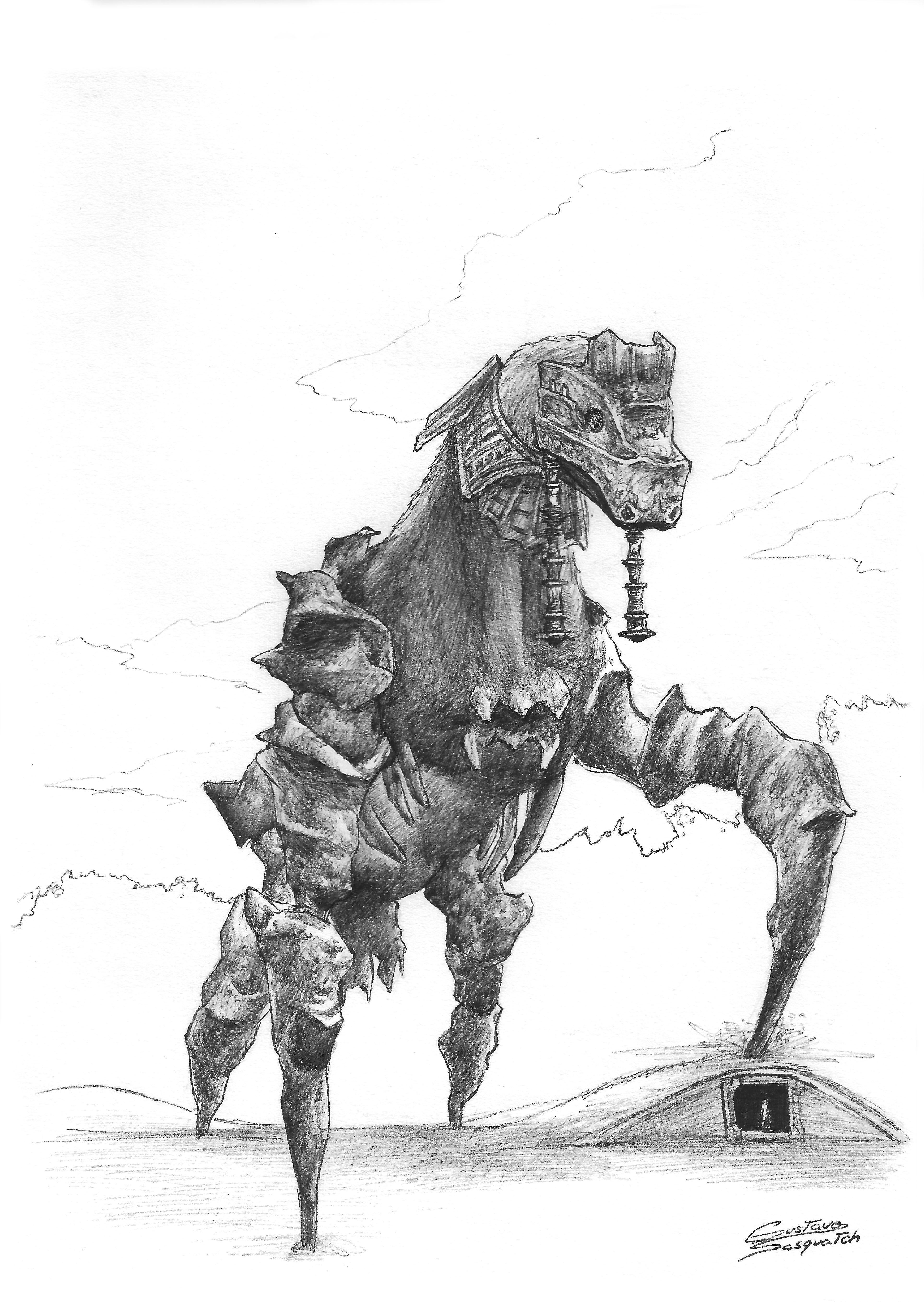 Phaedra Shadowofthecolossus Sotc Phaedra Teamico Fanart Shadow Of The Colossus Colossus Colossus Game